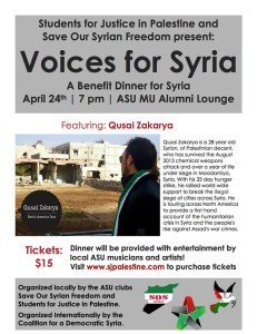 Voices for Syria Flyer